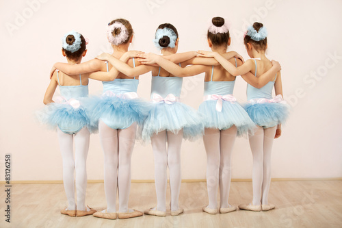 Group of five little ballerinas Canvas Print