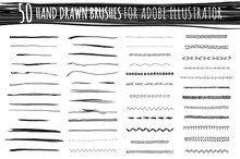 Set Of Art And Pattern Brushes