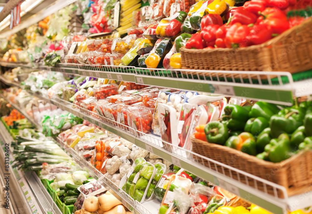 Fototapeta Shelf in the supermarket