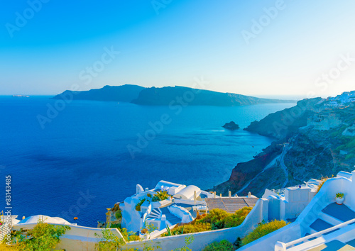 Fototapety, obrazy: in Oia the most beautiful village of Santorini island in Greece