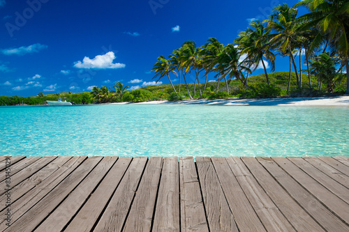 Foto op Canvas Tropical strand beach