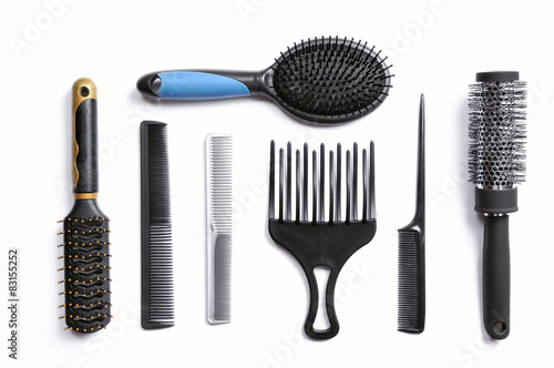 hairdresser brushes set isolated Tableau sur Toile