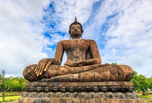 Fotografie, Obraz  Old Buddha at Sukhothai historical park