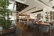 Interior of an elegant cafe