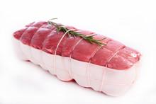Roast Beef Isolated On White