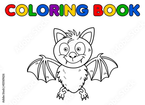 Garden Poster Fairytale World a bat for coloring