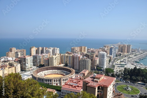 The view of Málaga