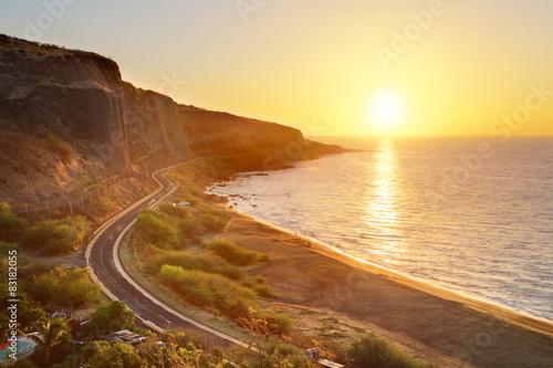 Crépuscule sur la baie de Cap LaHoussaye