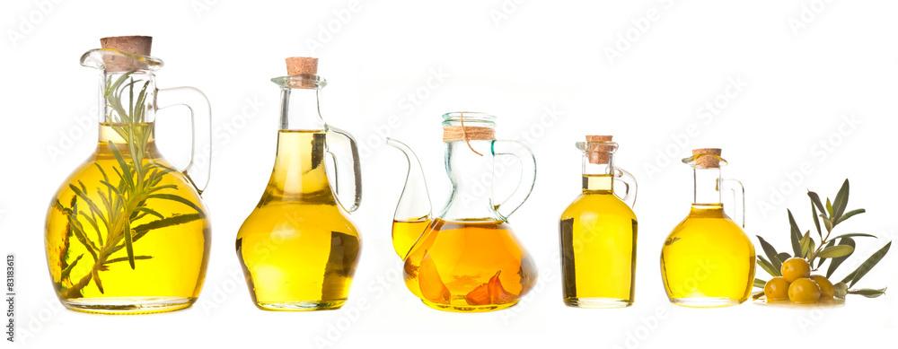Fototapety, obrazy: Extra virgin olive oils isolated