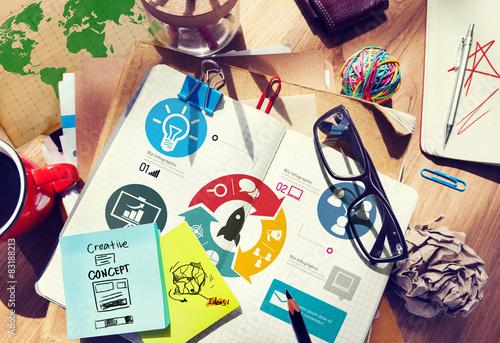Fototapeta Innovation Start Up Success Growth Concept obraz na płótnie