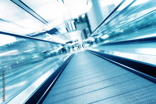 fast motion of escalator Poster Mural XXL