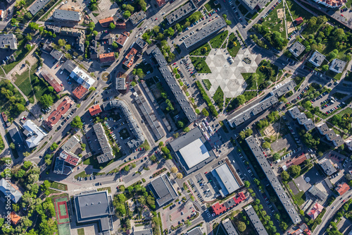 Foto aerial view of Olesnica city