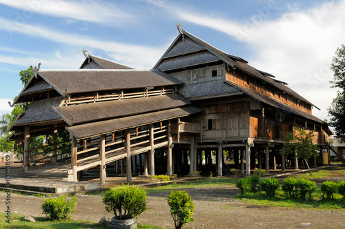 Valokuva  Wooden palace of the sultan in the Sumbawa town in Indonesia