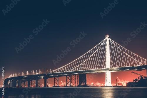 Keuken foto achterwand Bruggen Oakland Bay Bridge at Night