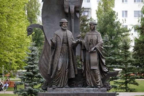 Poster Monument Памятник святым Петру и Февронии