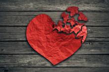 Broken Heart Breakup Concept S...
