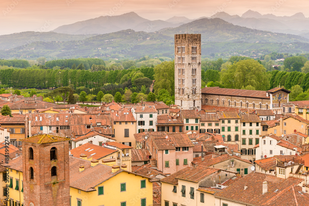 Fototapeta Lucca Tuscany Italy