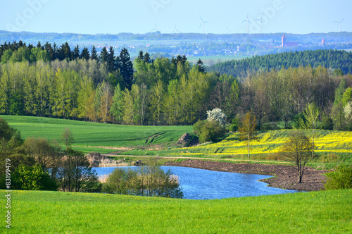 Foto op Canvas Khaki Colorful spring landscape