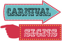 Carnival Sign Template Direction Signs