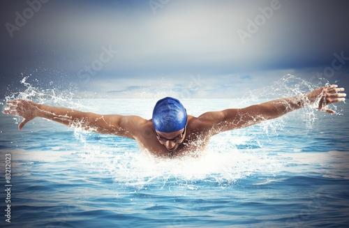 Fotografía  Nadando en el mar
