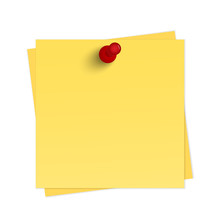 Yellow Reminder With Pin