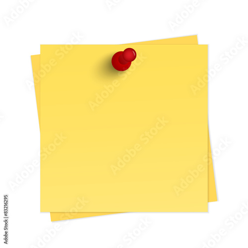 Yellow reminder with pin Canvas-taulu