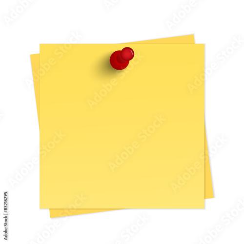 Żółte przypomnienie z pinezką Obraz na płótnie