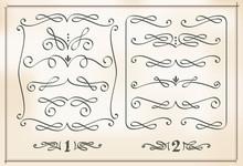 Set Of Calligraphic Design Ele...