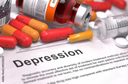 Fotografie, Obraz  Depression Diagnosis. Medical Concept.