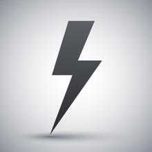 Vector Lightning Bolt Icon