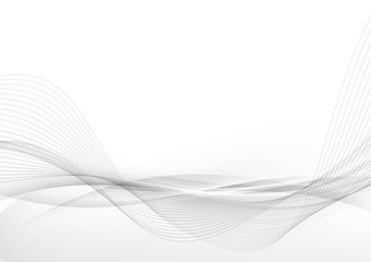 Elegant abstract smooth swoosh speed gray wave