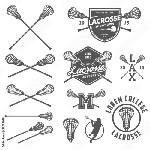 Cuadros en Lienzo  Set of lacrosse design elements