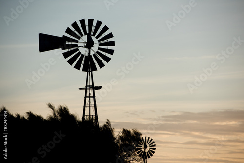 farm old windmill  for water
