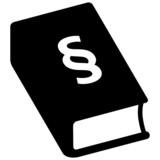 Icon Bürgerliches Gesetzbuch, Paragrafenzeichen, freigestellt