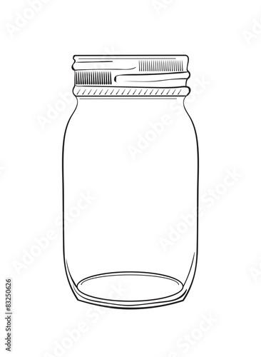 Fényképezés  Illustration of hand drawn doodle jar