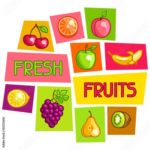 projekt-tla-ze-stylizowanymi-swiezymi-dojrzalymi-owocami