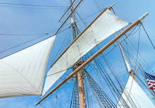 Windjammer Tall Ship With Mast...