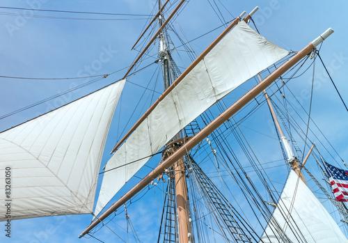 Keuken foto achterwand Schip Windjammer tall ship with mast, sail, and rigging