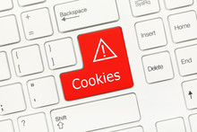 White Conceptual Keyboard - Cookies (red Key)