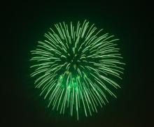 Evening Fireworks In Sky In Ho...
