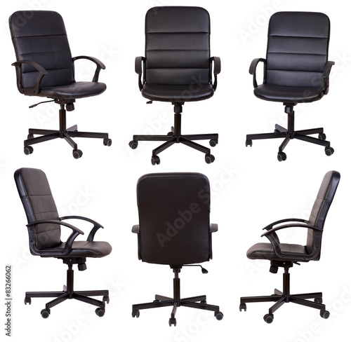 Fotografia Black office chair isolated on white background