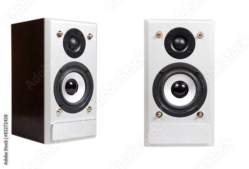 Fotografía music speaker isolated on a white background