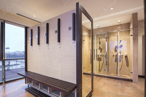 Fotografie, Obraz  Fitness and spa locker and shower room
