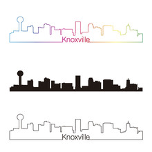 Knoxville Skyline Linear Style...