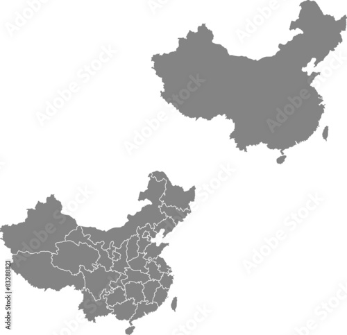 Photo  map of china