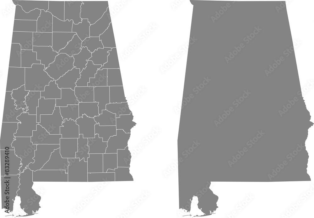 Fototapety, obrazy: map of Alabama