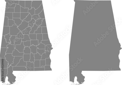 Photo map of Alabama