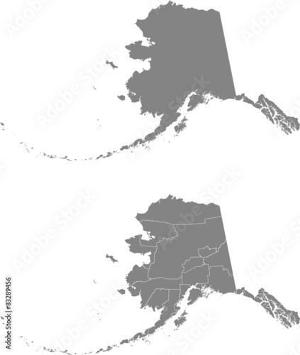 map of Alaska Wall mural