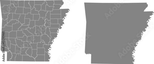 Photo map of Arkansas