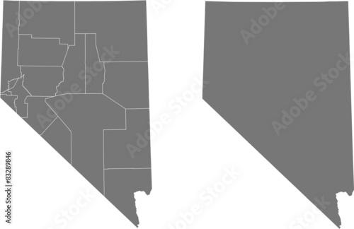 Obraz na plátně map of Nevada